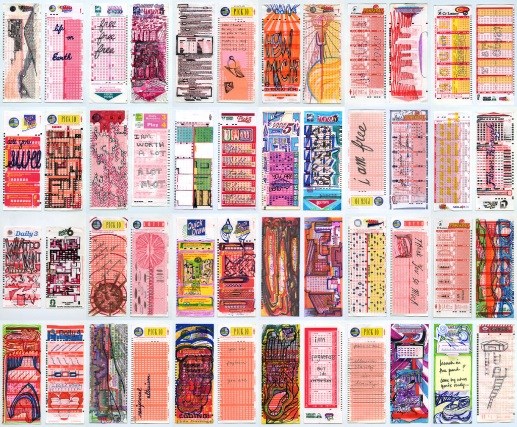 drawings on lottery tickets, 2001-2015